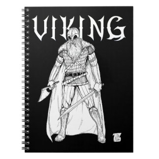 Viking Warrior Spiral Notebook