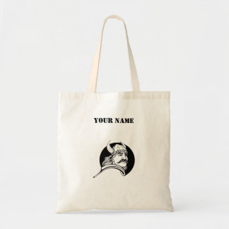 Viking Warrior With Mustache Personalized Tote Bag