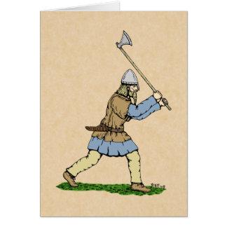 Viking Wielding Broad-Axe Card