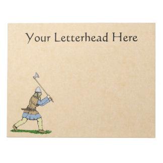 Viking Wielding Broad-Axe Notepad