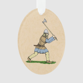 Viking Wielding Broad-Axe Ornament