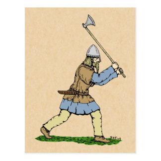 Viking Wielding Broad-Axe Postcard