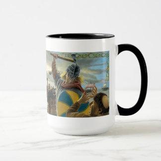 Vikings Attacking Lindisfarne Priory Mug