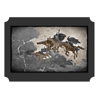Vikings Riding Through Storm Card