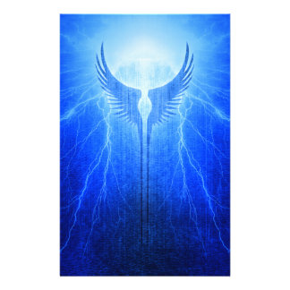 Vikings Valkyrie Wings of Protection Storm Stationery