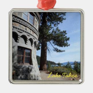 Vikingsholm- Lake Tahoe Silver-Colored Square Decoration