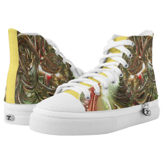 VikKicks - The Web and The Rose High-Top Sneakers