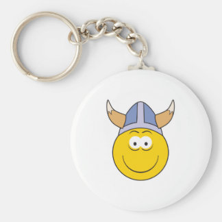 Vikking Smiley Face Keychains