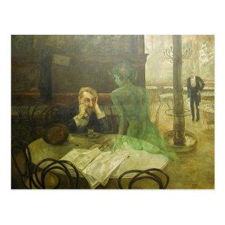 Viktor Oliva: The Absinthe Drinke Postcard