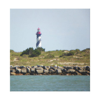 Vilano View of St.Aug. Lighthouse Canvas Canvas Print