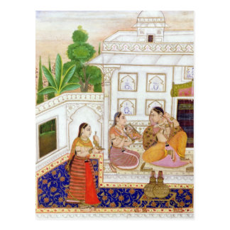Vilaval Ragini: Woman at her Toilet Postcard