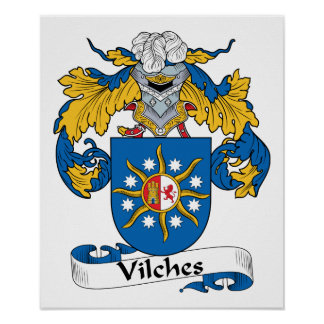 Vilches Family Crest Poster