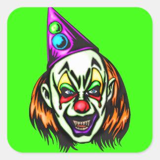 Vile Evil Clown Square Stickers
