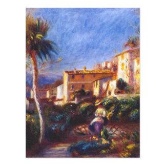 Villa de la poste at cagnes Pierre-Auguste Renoir Postcard