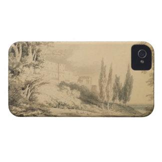 Villa d'Este, c.1796 (blue & grey wash over graphi iPhone 4 Case