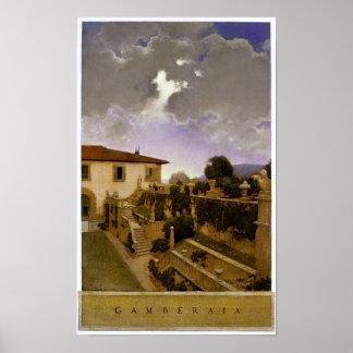 Villa Gamberaia, Settignano by Maxfield Parrish Poster