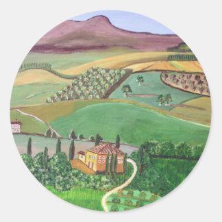 Villa in the Hill Classic Round Sticker