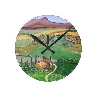 Villa in the Hill Round Clock