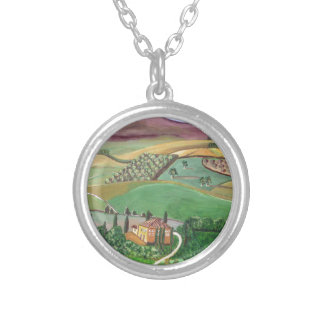 Villa in the Hill Silver Plated Necklace