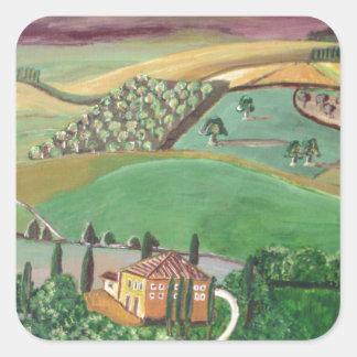 Villa in the Hill Square Sticker