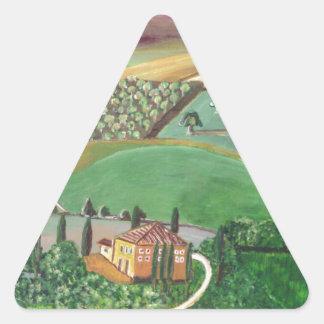 Villa in the Hill Triangle Sticker