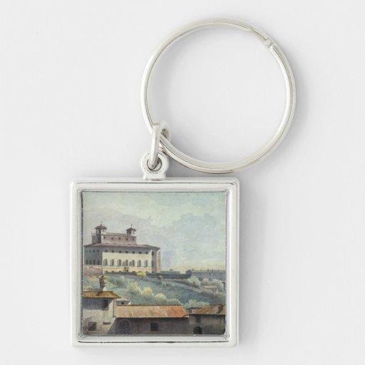 Villa Medici, Rome, c.1776 (oil on paper) Keychains