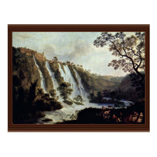 Villa Of Maecenas To The Waterfalls At Tivoli By H Postcard