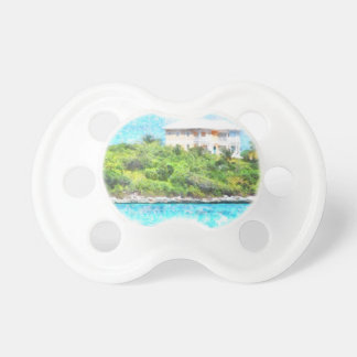 Villa set in greenery in the Bahamas Pacifiers