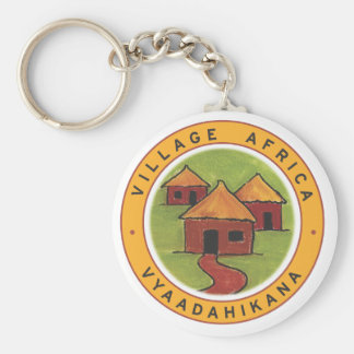 Village Africa keyring Basic Round Button Key Ring