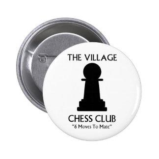 Village Chess Club 6 Cm Round Badge