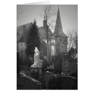 Village Church and Cemetery Greeting Card
