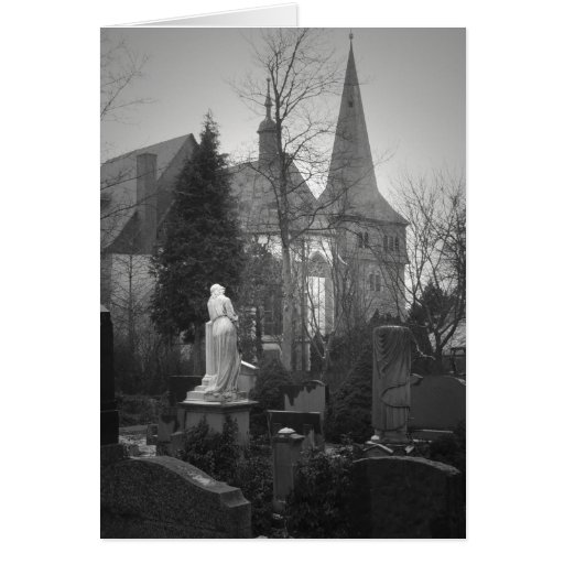 Village Church and Cemetery Greeting Cards