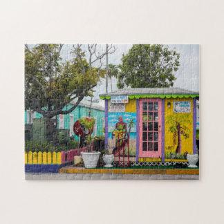 Village Cottage Bahamas. Jigsaw Puzzle