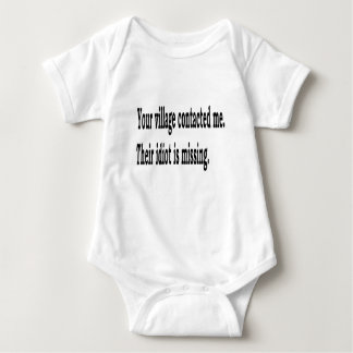 Village Idiot Baby Bodysuit