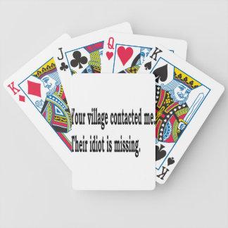 Village Idiot Bicycle Playing Cards