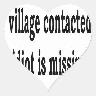 Village Idiot Heart Sticker