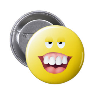 Village Idiot Smiley Face 6 Cm Round Badge