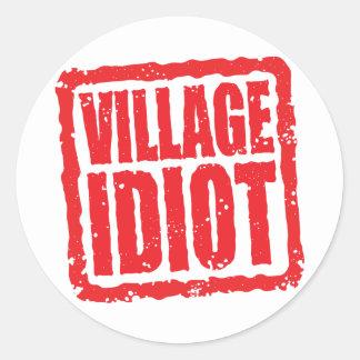 Village Idiot stamp Stickers