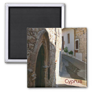 Village in Cyprus Square Magnet