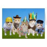 Village Kitties Funny Birthday Card