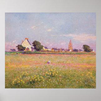 Village near Rouen Poster