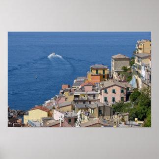 Village of Riomaggiore in Italy Poster