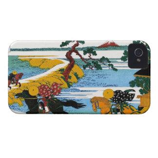 Village of Sekiya at Sumida river Katsushika Hokus iPhone 4 Case-Mate Cases