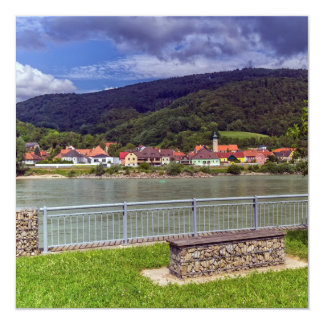 Village of Willendorf on the river Danube, Austria 13 Cm X 13 Cm Square Invitation Card