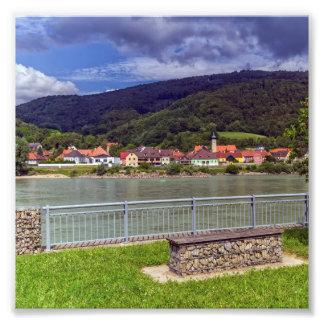 Village of Willendorf on the river Danube, Austria Photo Print
