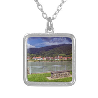 Village of Willendorf on the river Danube, Austria Silver Plated Necklace