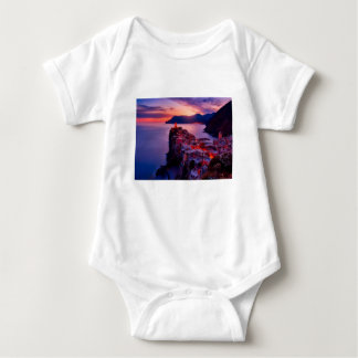 Village on River Landscape Baby Bodysuit