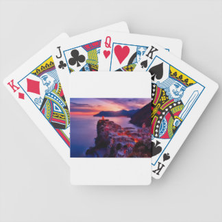 Village on River Landscape Bicycle Playing Cards
