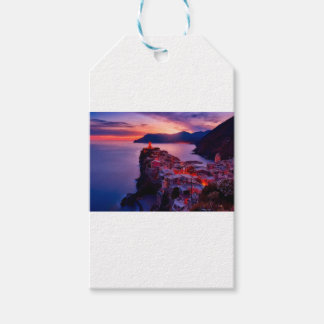 Village on River Landscape Gift Tags