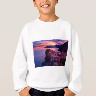 Village on River Landscape Sweatshirt